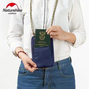 325-trắng-Túi đựng passport có dây đeo NATUREHIKE NH17X010-B-1