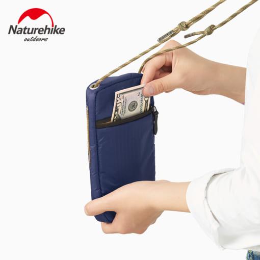 325-trắng-Túi đựng passport có dây đeo NATUREHIKE NH17X010-B-5