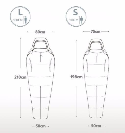 892-trắng-Túi ngủ bông tách rời không thấm nước Naturehike NH16R200-X-6