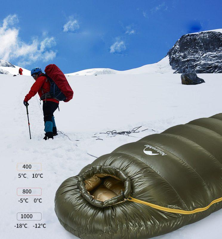 túi ngủ naturehike lông vũ NH15D800-K-10