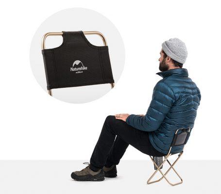 ghế xếp inox có tựa lưng NatureHike NH18M001-Z-1