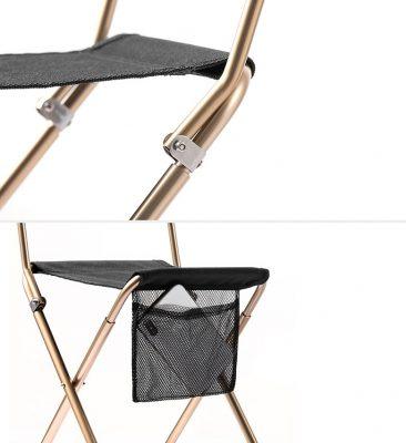 ghế xếp inox có tựa lưng NatureHike NH18M001-Z-10