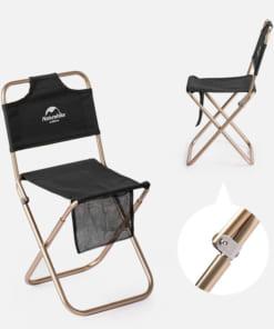 ghế xếp inox có tựa lưng NatureHike NH18M001-Z-7