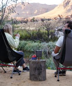 ghế xếp inox vải bố có lưng tựa NatureHike NH18Y060-Z-2