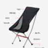 ghế xếp inox vải bố có lưng tựa NatureHike NH18Y060-Z-8