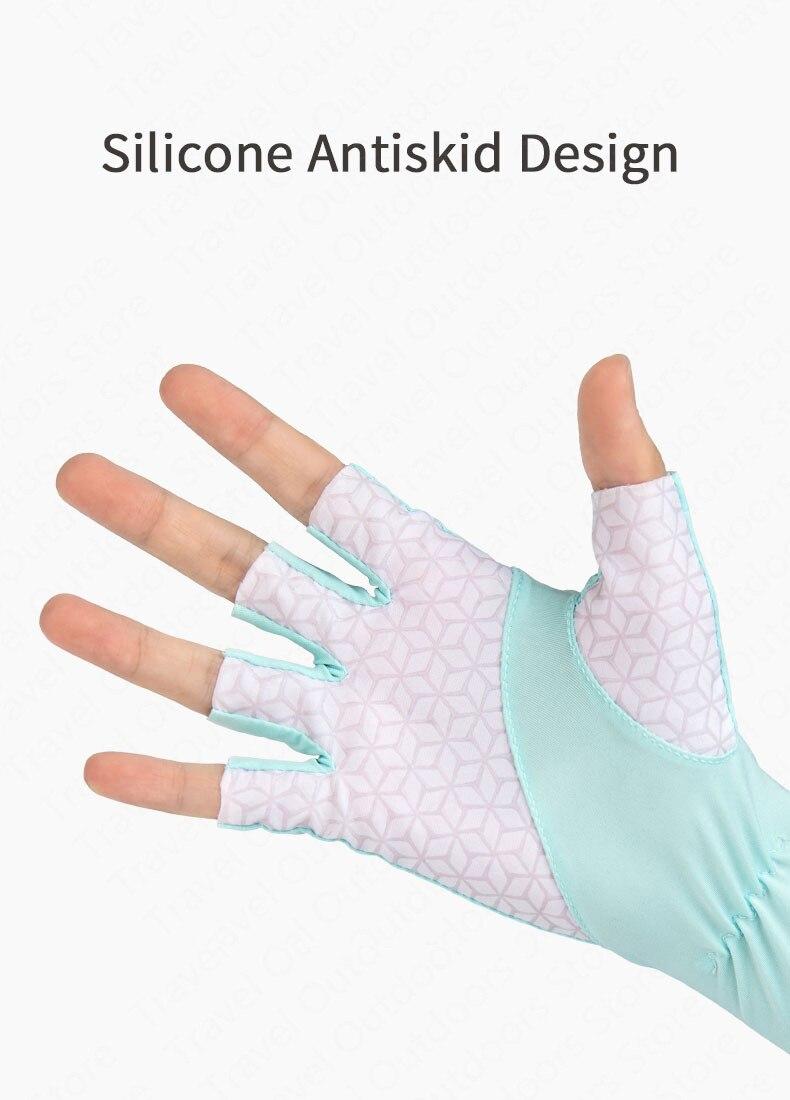 sử dụng găng tay chống nắng NatureHike NH20FS023