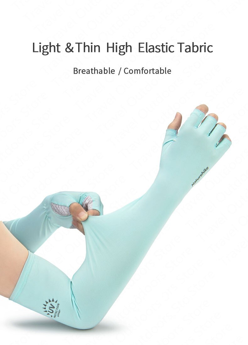 chất liệu của găng tay đi nắng NatureHike NH20FS023