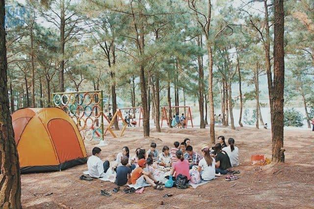 các địa điểm cắm trại gần hà nội